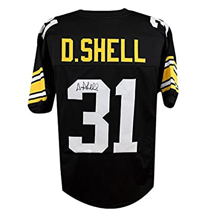 ec622233040 Donnie Shell Autographed Pittsburgh Steelers Custom Black Football Jersey -  JSA