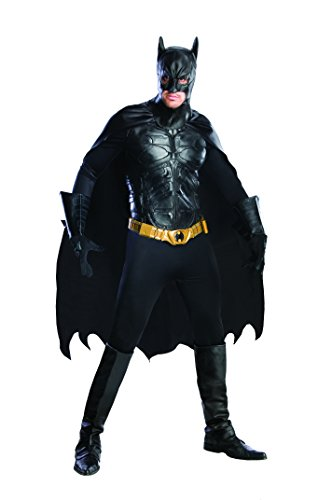 Rubie's Men's The Dark Knight Rises Deluxe Batman Costume, Black, (Deluxe Dark Knight Batman Adult Costumes)