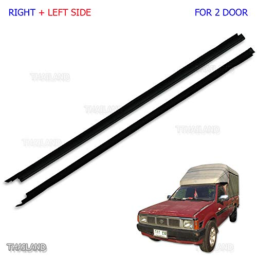 Powerwarauto Set Outer Door Weather Window Rubber Seal Belt For Nissan Navara D21 Big-M Big M Hardbody Pick-Up Truck 1986 1990 1991-1997 1998 1999 2000 ()