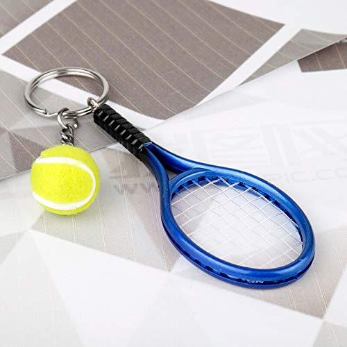 Multi Amazings Dongsheng Fashion Tennis Ball Racket Keychain Keyring Tennis Ball Pendants Car Key Chains for Sport Player-50 Chain Players Light Pendant