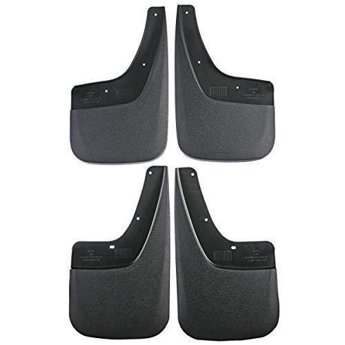 (Set of 4 Front and Rear Splash Guard Mud Flaps for GMC Sierra 1500 2500 HD 3500 HD 2014-2018)