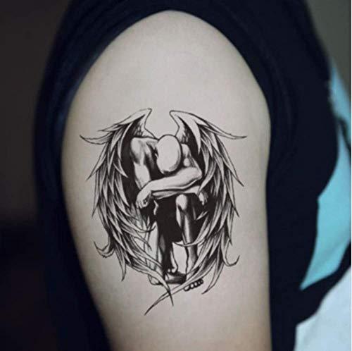 Waterproof Temporary Tattoo Sticker Cute Fallen Angel Wings Design Body Art Man Woman Makeup Tools -