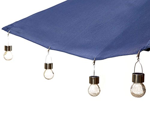 Sunrays Crackle Glass Umbrella Light Clip Set with Super Bright Coloring Changing LED - 4-Pack