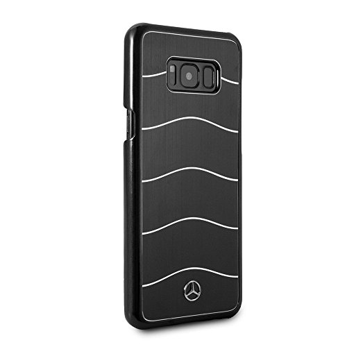 Mercedes Benz Samsung Galaxy S8 Plus - by CG Mobile - Black Cell Phone Case Brushed Aluminum | Easily Accessible Ports | Officially (Brushed Aluminum Case)
