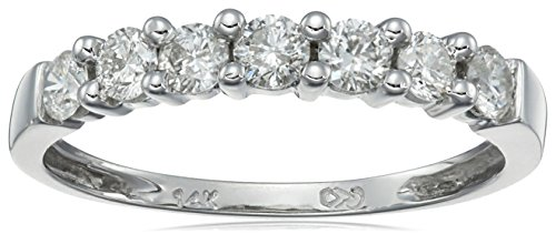 14k Gold 7-Stone Shared-Prong Diamond Ring (1/2 cttw, I-J Color, I1-I2 Clarity) by Amazon Collection