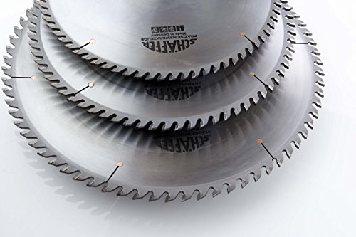 Schaffer Schelling Circular Saw Blade - 450mm Diameter, Triple Chip (TC) Grind, 4.4/3.2mm Kerf, 30mm Arbor, 72 Teeth - Tungsten Carbide Table Saw Blade ()