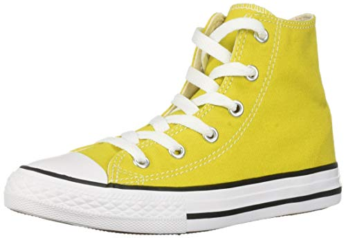 Converse Girls Kids' Chuck Taylor All Star 2019 Seasonal High Top Sneaker, Bold Citron/Natural Ivory 11 M US Little