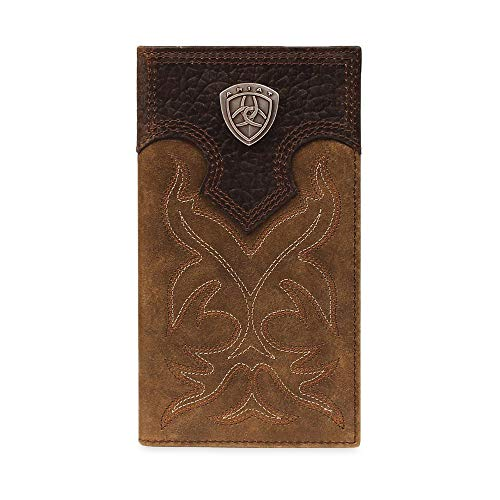 (Ariat Ariat Shield Boot Stitch Rodeo Wallet Wallet Medium Distressed Brown One Size)