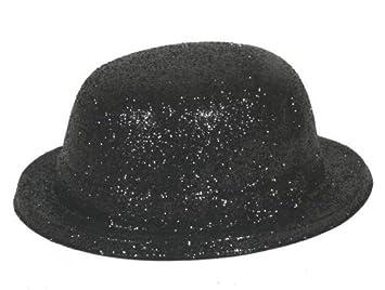 39e2ce3f23069 Glitter Hat  Bowler (Black) by Henbrandt  Amazon.co.uk  Toys   Games