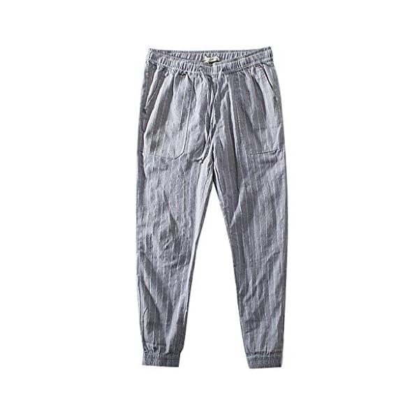 FRAUIT Pantaloni Uomo Lino Slim Fit Pantalone Ragazzo Casual Righe Pantaloni Uomini Estivi Elasticizzati Pantaloni con… 1 spesavip