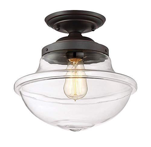 Designer Initials Ring - Designers Fountain 90211-SB Foundry 1 Light Semi-Flush