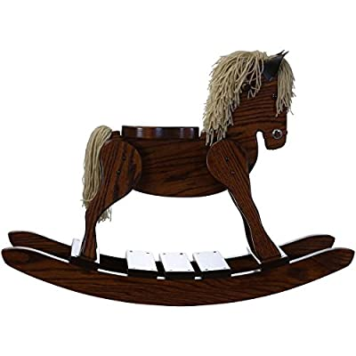 "Amish Made Wooden Rocking horse for toddlers and kids Nursery Room decor decoration Hand Crafted in the USA Made of solid oak Size: 34"" W x 11.5 ""D x . by DaySpring Internati"