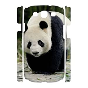 DIY panda 3D Phone Case, DIY 3D Phone Case for samsung galaxy s3 i9300 with panda (Pattern-1)