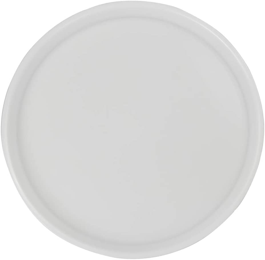 Saedy White Plastic Fast Food Trays, Round Serving Trays(4 Packs)