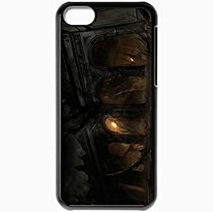 Personalized iPhone 5C Cell phone Case/Cover Skin Alone In The Dark Black