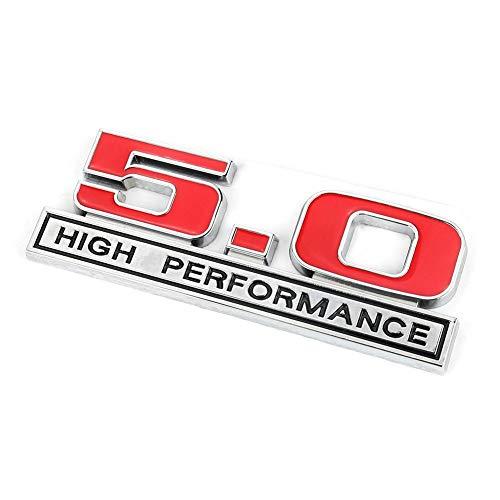 - Fydun Emblem Trunk Badge Decal 5.0 High Performance Metal Labeling Car Tail Sticker