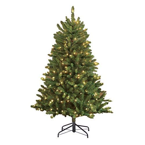 Puleo International 4.5 Pre-Lit Fraser Fir 250 UL-Listed Lights Artificial Christmas Tree, Ft, Clear