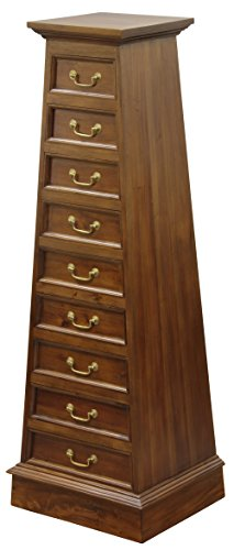 NES Furniture Fine Handcrafted Solid Mahogany Wood Cairo Dresser, 61 Inches, (Solid Mahogany Dresser)