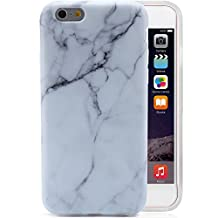 """Marble iPhone 6 Plus Case White, VIVIBIN Anti-Scratch Shock Proof Thin TPU Case For iPhone 6+ / 6s+ 5.5"""" , White Marble Design"""
