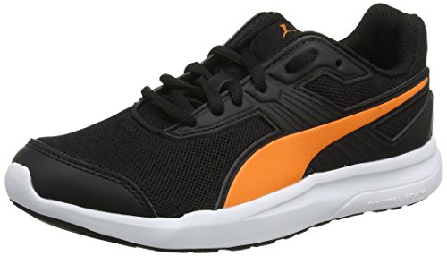 Puma Unisex-Kinder Escaper Mesh Jr Laufschuhe, Schwarz Black-Vibrant Orange Black, 37 EU