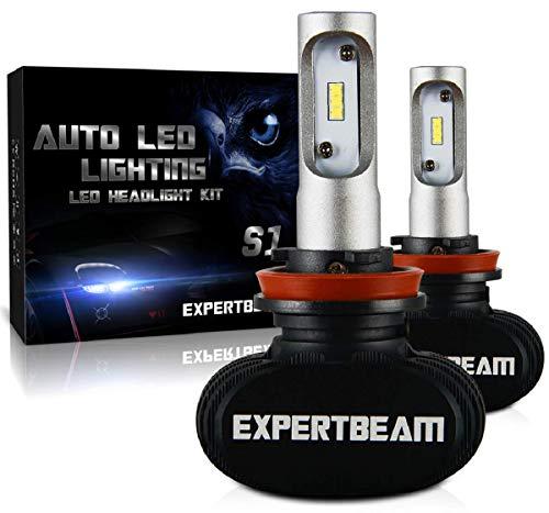 EXPERTBEAM H11 LED Headlight Bulbs, h11 Low beam Fog light, LED Conversion Kit H8 H9, 8000Lm 6500K, Cool White 12x LED CSP Chip (3-Yr-Warranty)