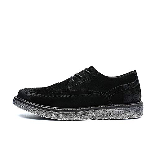 40 Shoes Ofgcfbvxd Retro uomo lavoro Color Calzature casual per aziendale Outsole EU Youth Nero Enhanced Brogue Scarpa Dimensione da Oxford Oxford Nero il qPgrfqR