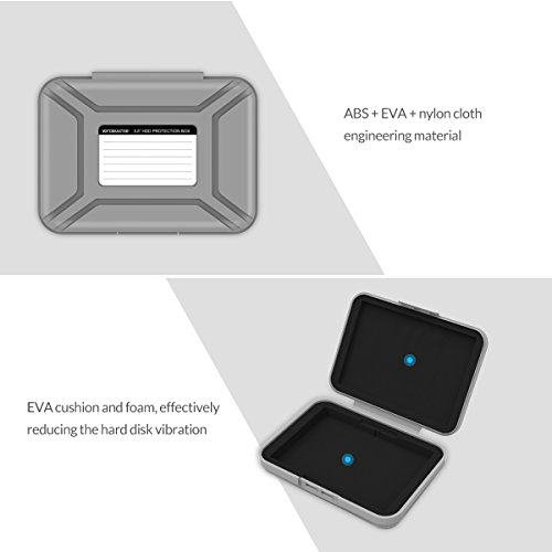 5-Pack Yottamaster 3.5 Inch Portable HDD Case / External Hard Drive Case -Gray by Yottamaster (Image #4)