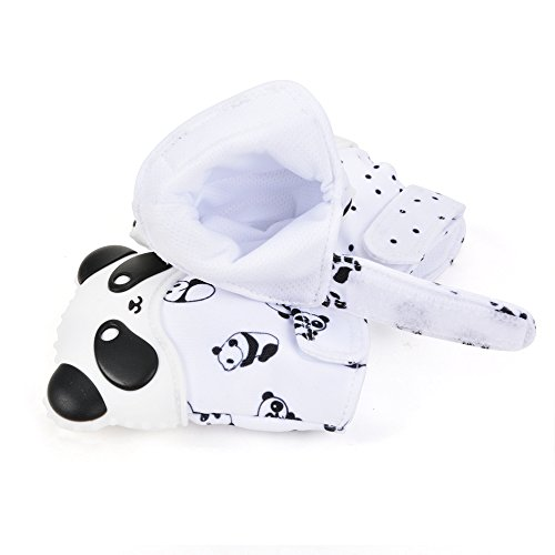 Silicone Baby Teether Teething Panda Mitten Glove Palm Thumb Chewable Toy Newborn Nursing BPA Free(dot)