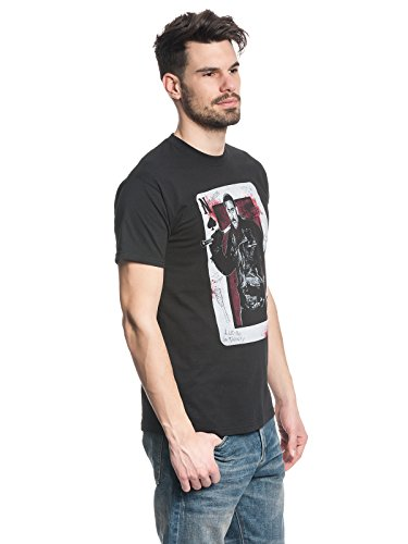 Unbekannt Walking Dead Negan Playing Card Herren T-Shirt Black