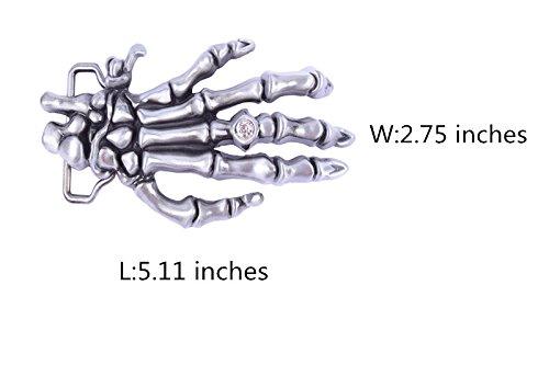 3D Ghost Skeleton Hand Design Cowboy Belt buckle