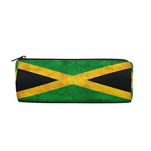 ZZKKO Jamaica Flag Zipper Pen Pencil Case Bag Pouch for Girls Boys Teens Adult ()