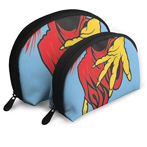 Demon Makeup Ideas (Evil Demon Makeup Bag Set For Travel & Daily Storage - Shell Shape Handy Cosmetic)