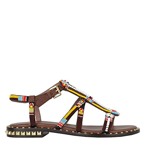 Ash Beaded Polynesia Brown Brown in Suede Sandals amp; Studs RqRrnxdw5A