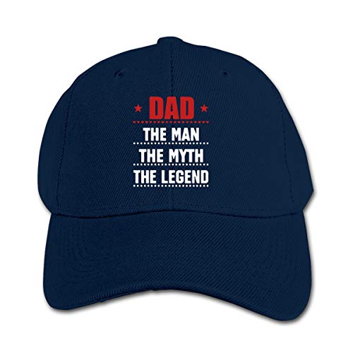 (Angkella Dad The Man The Myth The Legend Children Toddler Infant Cap Hat Peaked Baseball Hats Navy)