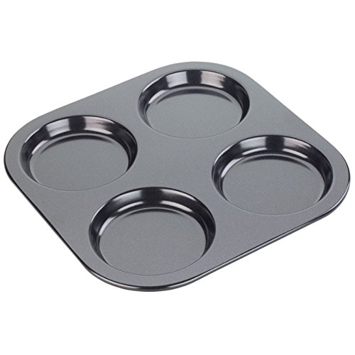 Tala 10A10680 Non Stick 10.5 4 Cup Yorkshire Pudding Tray, Black