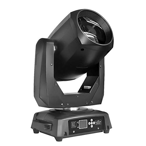 STSLITE Stage Lights LED Beam Moving Head with Color Gobo Wheel for Party Pub Wedding DJ Night Club Family of Stage Lighting (M BEAM 200, Black) -