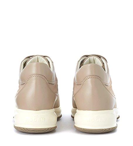 Hogan Sneaker Interactive In Pelle Marrone Intrecciata