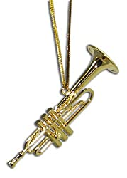Trumpet Christmas Ornament 2.5 Inches