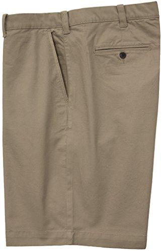 Savane Casual Twill Shorts with Stretch Fabric KHAKI Size 44 #477B Best Golf Shorts