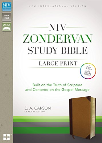 NIV Zondervan Study Bible, Large Print, Imitation Leather, Brown/Tan