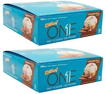Caramel Cinnamon Rolls (One Bar Cinnamon Roll NEW Flavor 20 g Protein 12 Bars (2 Pack))