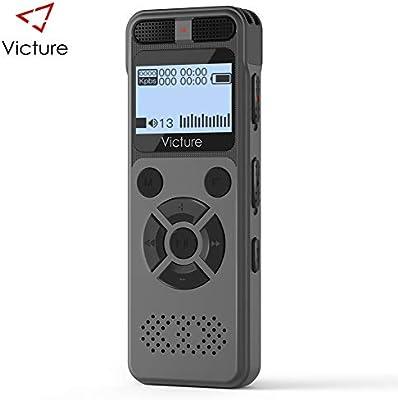 Victure Grabadora de Voz Digital Portátil, 8GB 1536kbps HD Grabador de Sonido con Reproductor de