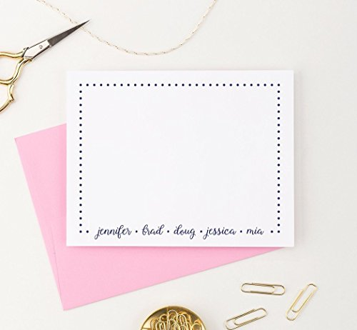 (Personalized Family Stationery Set, New Home Gift Ideas, Personalized Family Note Cards, Housewarming Gifts for Couple, Your Choice of Colors and Quantity)