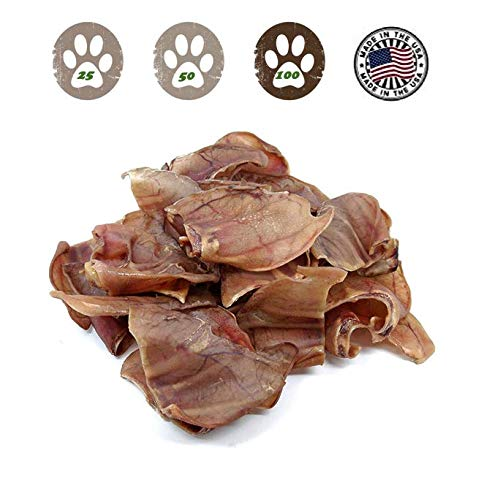 (Pig Ears For Dogs 100 Pack - Made In The Usa)