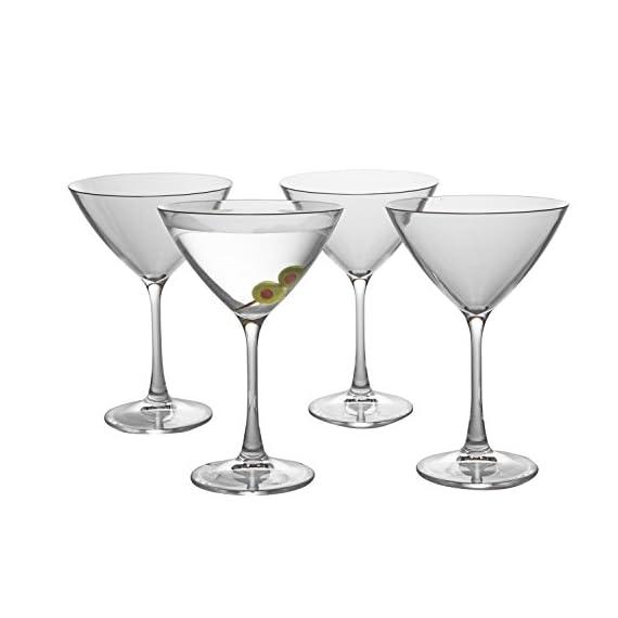 Unbreakable Martini Glasses - 100% Tritan - Shatterproof, Reusable, Dishwasher Safe (Set of 4) 4 4 Martini Glasses per set Shatterproof, reusable, and dishwasher safe beer glasses - BPA Free Each Martini glass is made from 100% Tritan, a durable plastic like material