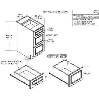 Heartland cabinetry in base cabinet with 3 for Ez hang chairs instructions