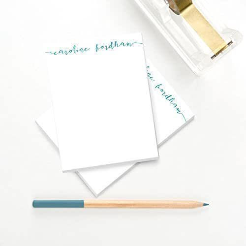 Calligraphy Personalized Notepad Handmade