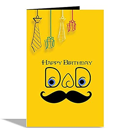 Happy Birthday Dad Greeting Card Amazon In Office Products
