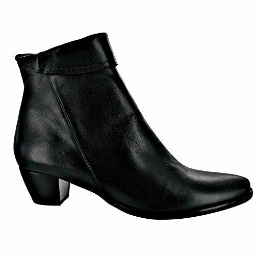 Femme Noir cuir en Riva Armadillo Bottines znxwB7