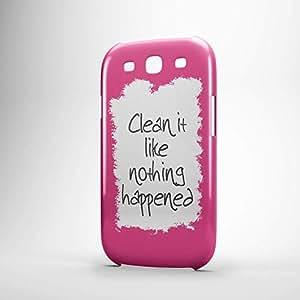 Clean it Samsung S3 3D wrap around Case - Typography